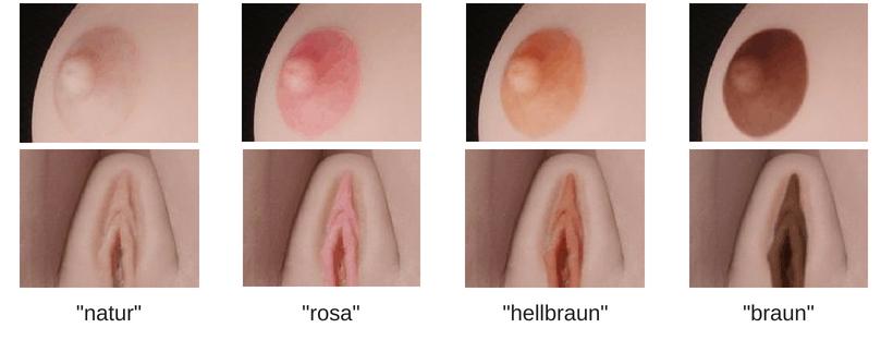 Nippel und Vaginafarbe