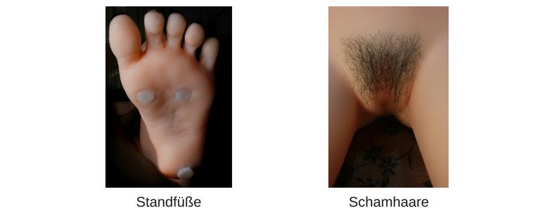 Standfüße + Schamhaare Z-one