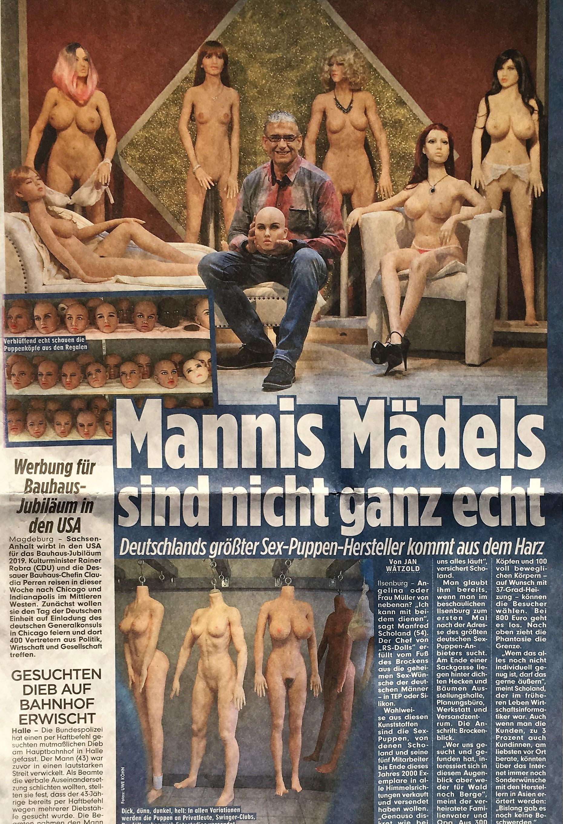 Bild Zeitung berichtet RS-DOLLS Deutschland Real Doll Sexpuppen Harz